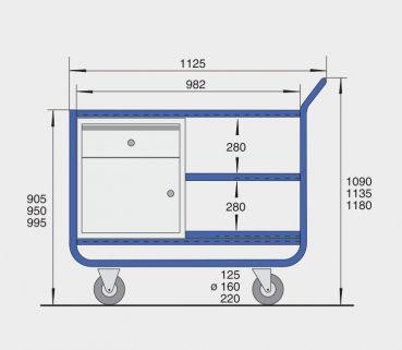 stahlrohr tischwagen 200 kg han 360 12 sr. Black Bedroom Furniture Sets. Home Design Ideas