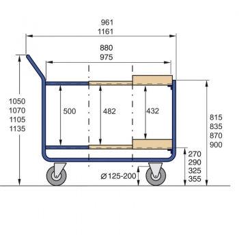 stahlrohr tischwagen 300 kg han 252 12 vr. Black Bedroom Furniture Sets. Home Design Ideas