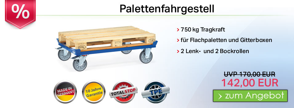 paletten fahrgestell 750 kg tragkraft. Black Bedroom Furniture Sets. Home Design Ideas