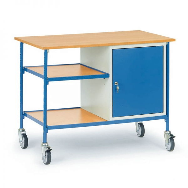 rolltisch 150 kg 2 holz b den 1 schrank 5864. Black Bedroom Furniture Sets. Home Design Ideas